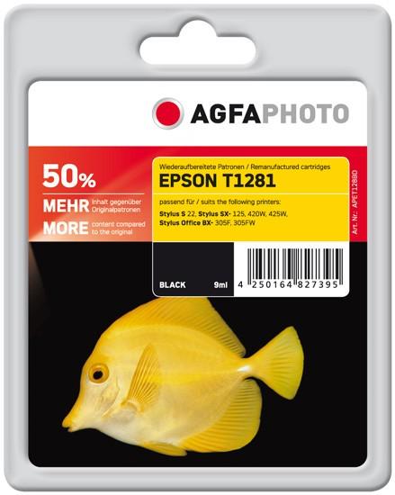 AGFAPHOTO Tintenpatrone kompatibel zu Epson T1281-C13T12814011 Black