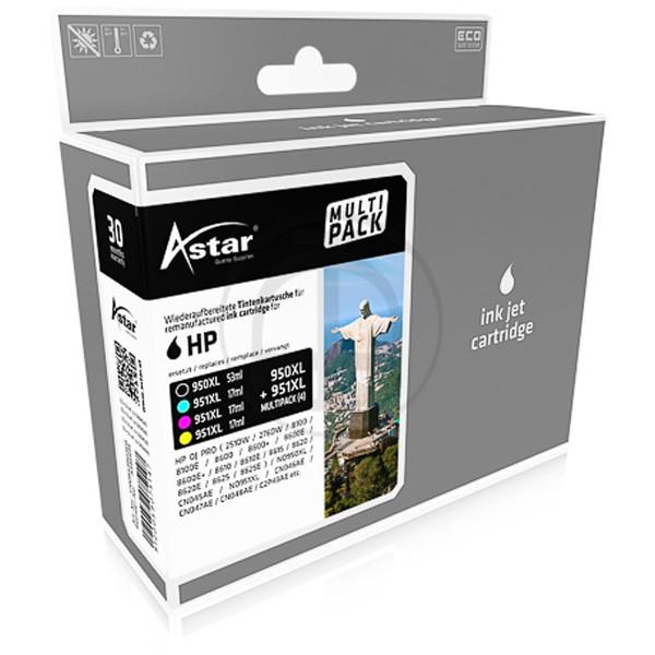 Sparpack! ASTAR Tintenpatronen kompatibel zu HP C2P43AE HP 950XL - HP 951XL (4)