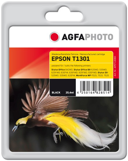 AGFAPHOTO Tintenpatrone Kompatibel zu Epson T1301 C13T13014012 Black (945 S.)