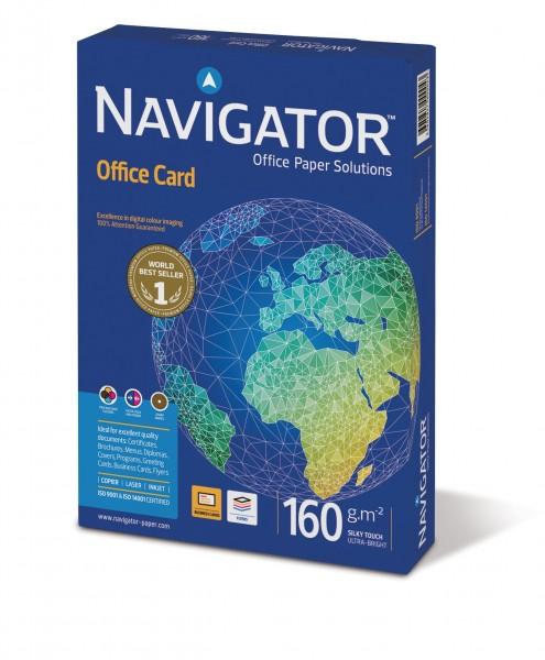 Kopierpapier Navigator Office Card, DIN A4, 160g/qm, weiß, 250 Blatt