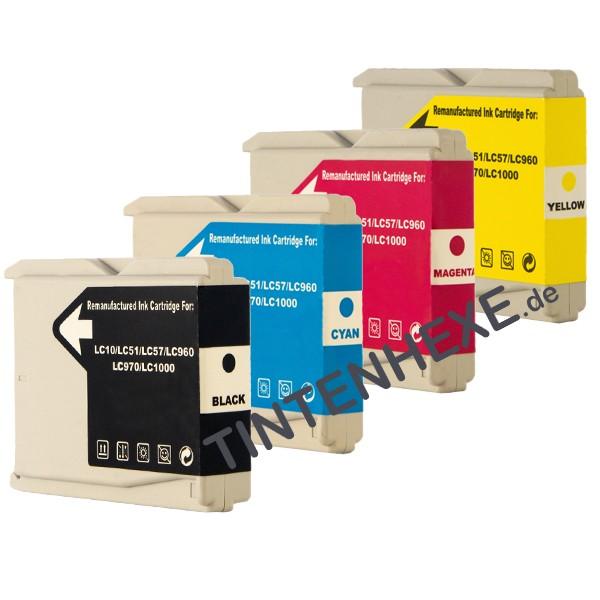Multipack! Rebuilt Tintenpatronen kompatibel zu Brother LC970-LC1000 (4)