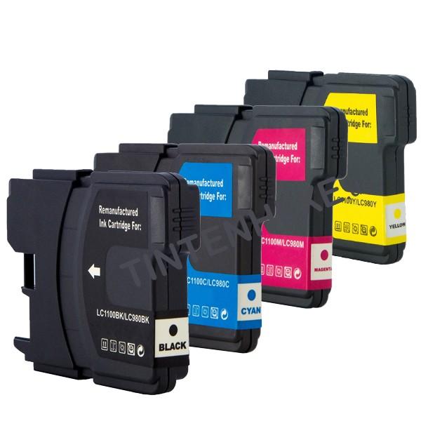Multipack! Rebuilt Tintenpatronen kompatibel zu Brother LC980-LC1100 (4)
