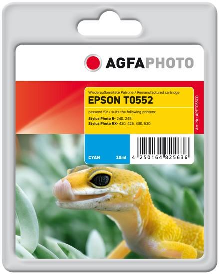 AGFAPHOTO Tintenpatrone kompatibel zu Epson T0552-C13T05524010 Cyan