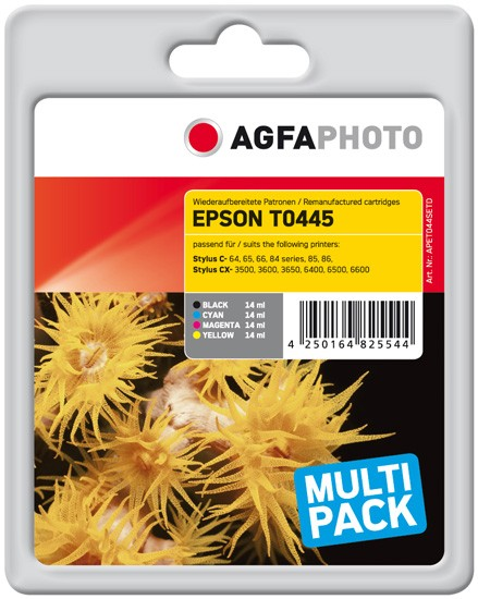 Sparpack! Original AGFAPHOTO Tintenpatronen kompatibel zu Epson T0445-C13T04454010 (4)