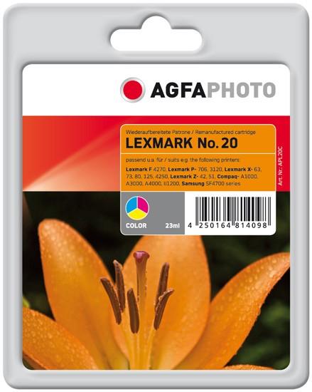 AGFAPHOTO Tintenpatrone Kompatibel zu Lexmark 20 / 15MX120E Color