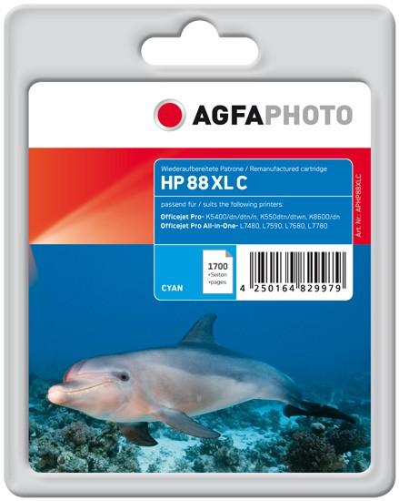AGFAPHOTO Tintenpatrone kompatibel zu HP 88XL / C9391AE Cyan