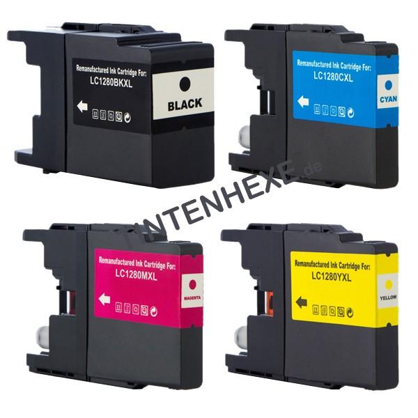 Multipack! Rebuilt Tintenpatronen kompatibel zu Brother LC1280XL LC1280XLVALBPDR (4)