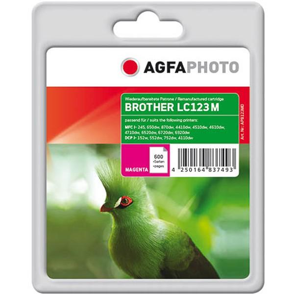 AGFAPHOTO Tintenpatrone Kompatibel zu Brother LC123 Magenta