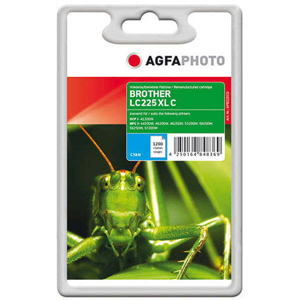 AGFAPHOTO Tintenpatrone kompatibel zu Brother LC225XL Cyan