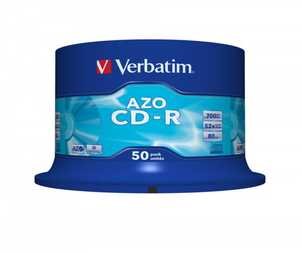 CD-R Verbatim 700MB 80Min.52x Spindel Crystal (50 Stck)
