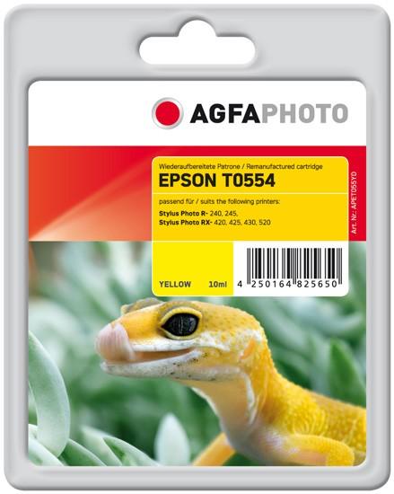 AGFAPHOTO Tintenpatrone kompatibel zu Epson T0554-C13T05544010 Yellow