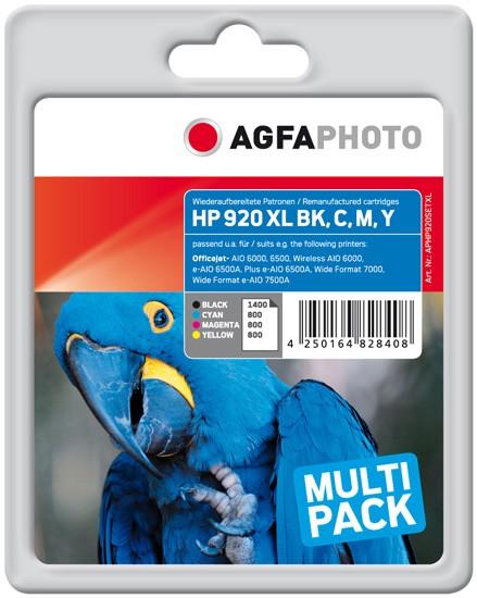 Sparpack! AGFAPHOTO Tintenpatronen kompatibel zu HP 920XL (4)
