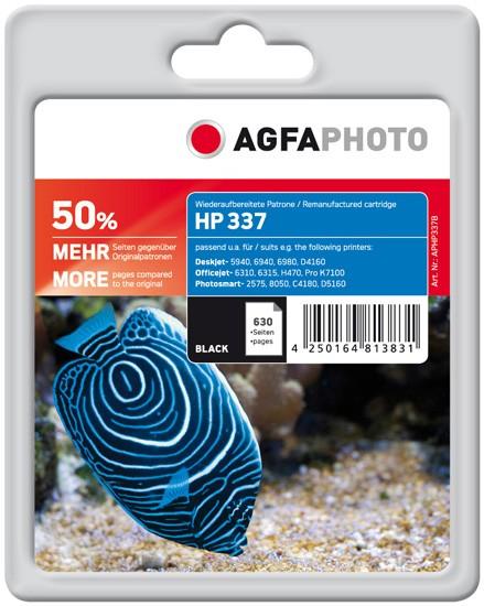 AGFAPHOTO Tintenpatrone kompatibel zu HP 337 / C9364EE Black
