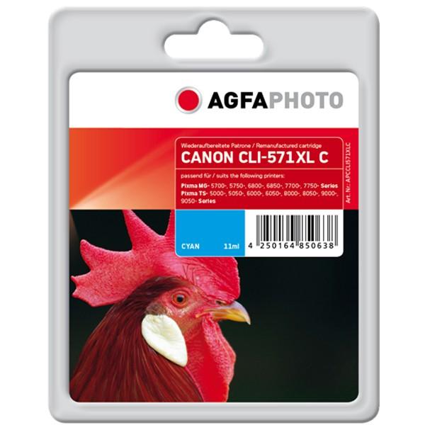 AGFAPHOTO Tintenpatrone kompatibel zu Canon CLI-571XL Cyan
