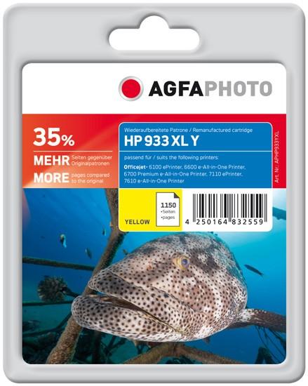 AGFAPHOTO Tintenpatrone kompatibel zu HP 933XL / CN056AE Yellow