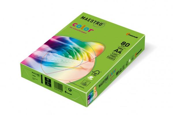 Kopierpapier Maestro-Color intensiv, DIN A4, 80g/qm, maigrün, 500 Blatt
