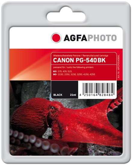 AGFAPHOTO Tintenpatrone Kompatibel zu Canon PG-540XL / 5222B005 Black (662 S.)