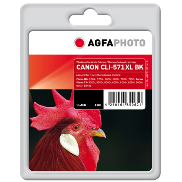 AGFAPHOTO Tintenpatrone kompatibel zu Canon CLI-571XL Photo-Black
