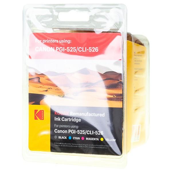Sparpack! KODAK Tintenpatronen kompatibel zu Canon PGI-525 CLI-526 (5)