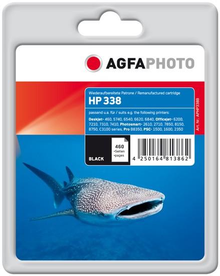 AGFAPHOTO Tintenpatrone kompatibel zu HP 338 / C8765EE Black