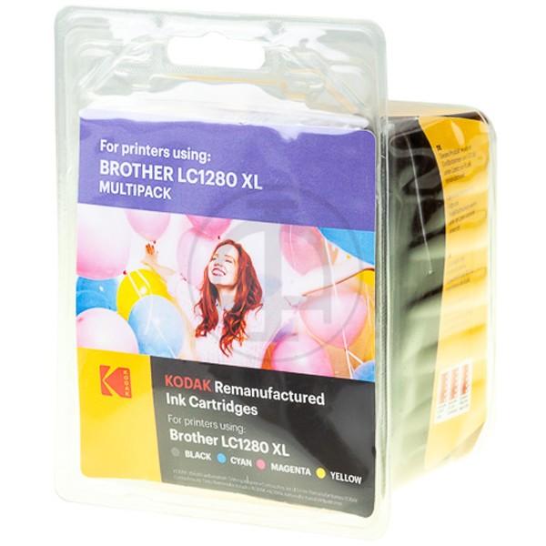 Multipack! KODAK Tintenpatronen kompatibel zu Brother LC1280XL LC1280XLVALBPDR (4)