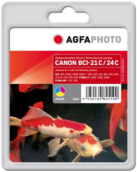 AGFAPHOTO Tintenpatrone kompatibel zu Canon BCI-21/24 Color