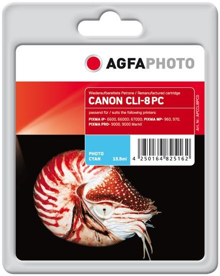 AGFAPHOTO Tintenpatrone kompatibel zu Canon CLI-8 Photo-Cyan