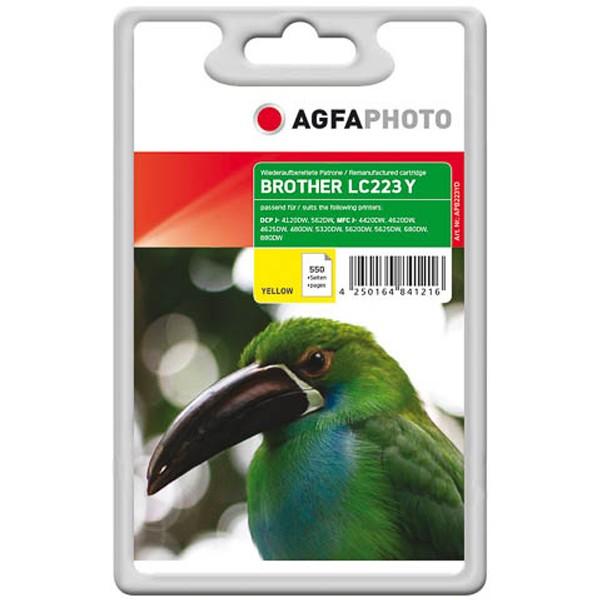 AGFAPHOTO Tintenpatrone kompatibel zu Brother LC223 Yellow