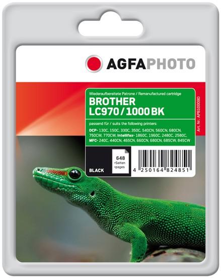 AGFAPHOTO Tintenpatrone Kompatibel zu Brother LC970BK / LC1000BK Black