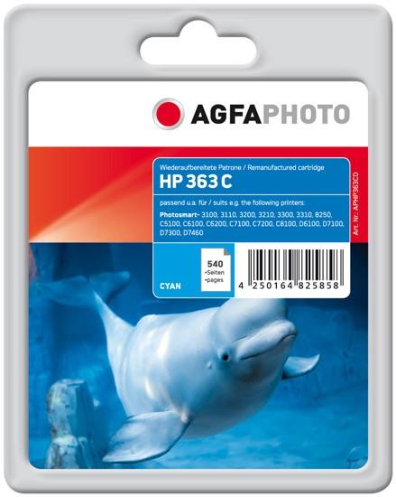 AGFAPHOTO Tintenpatrone Kompatibel zu HP 363 / C8771EE Cyan