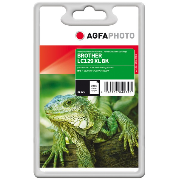 AGFAPHOTO Tintenpatrone kompatibel zu Brother LC129XL-BK Black