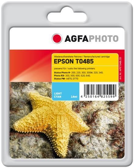 AGFAPHOTO Tintenpatrone kompatibel zu Epson T0485-C13T04854010 Light-Cyan
