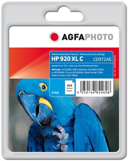 AGFAPHOTO Tintenpatrone kompatibel zu HP 920XL / CD972AE Cyan
