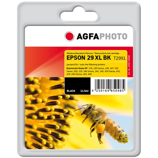 AGFAPHOTO Tintenpatrone kompatibel zu Epson 29XL / T2991 / C13T29914012 Black