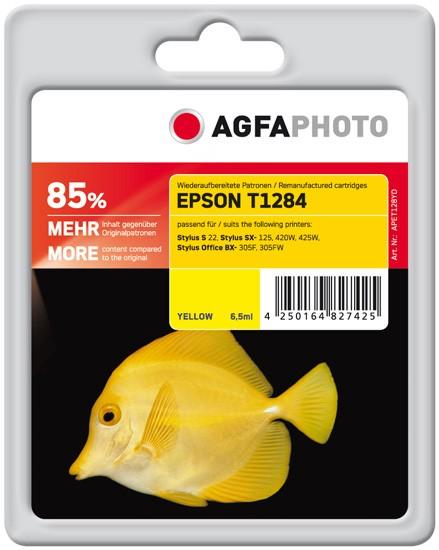 AGFAPHOTO Tintenpatrone kompatibel zu Epson T1284-C13T12844011 Yellow