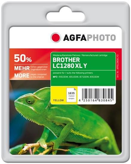 AGFAPHOTO Tintenpatrone kompatibel zu Brother LC1280 XL Yellow