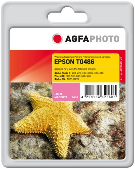 AGFAPHOTO Tintenpatrone kompatibel zu Epson T0486-C13T04864010 Light-Magenta