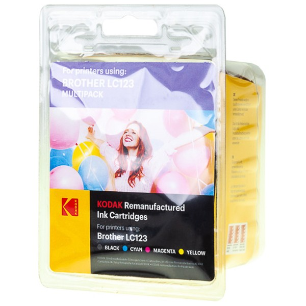 Sparpack! KODAK Tintenpatronen kompatibel zu Brother LC123 LC123VALBPDR (4)
