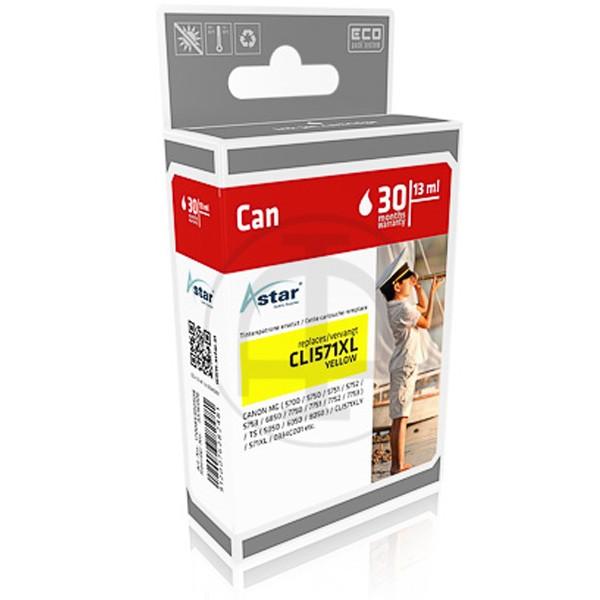 ASTAR Tintenpatrone kompatibel zu Canon CLI-571XL 0334C001 Yellow